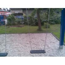 Závěs houpačky SC (nerez řetěz) s pogumovaným sedákem (DH ND)